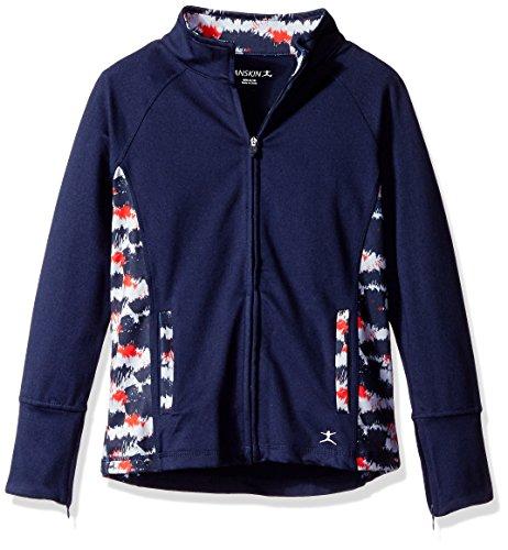 Jacket Girls Danskin (Danskin Big Girls (7-16) Jacket, Navy, Large (12/14))