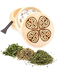 Acquisition Clover Engraved Premium Natural Wooden Grinder Item # PW91316-35 saleoff