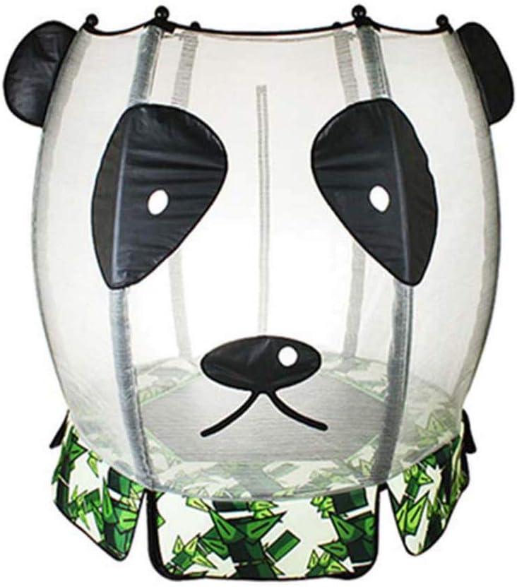Feng tata Trampolín Plegable De Fitness, Mini Cama Elástica/Fitness Rebounder para Los Niños Ideal para Interiores como Al Aire Libre, Blanco De La Panda De Dibujos Animados
