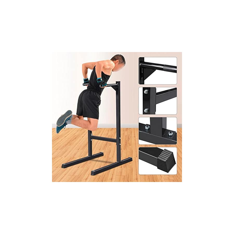 Topeakmart Dip Stand Parallel Bar Dip Station Dip Bar