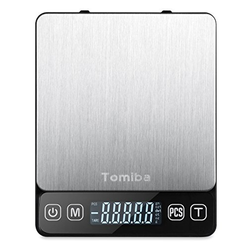 Tomiba 3000g Digital Touch Pocket Scale Small Portable Kitchen Food Scale Electronic Precision Weed Jewelry Scale, 0.01oz (0.1g) Resolution, 4 AAA Batteries (0.1g Pocket Scale)