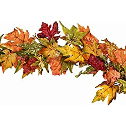 Premium Maple Glitter Garland 68 Inch