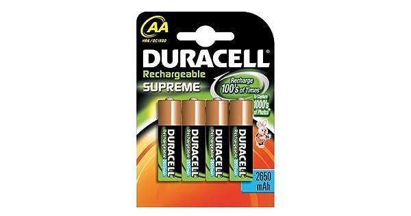 Amazon.com: Duracell pilas AA recargables NiMH, 4-Pack: Home ...