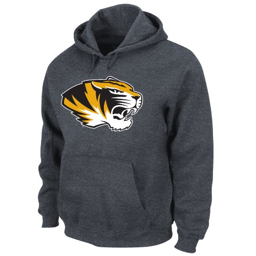 Majestic Athletic Hooded Fleece (NCAA Missouri Tigers Conquest Charcoal Heather Long Sleeve Hooded Fleece Pullover By Majestic, Charcoal Heather, XX-Large)