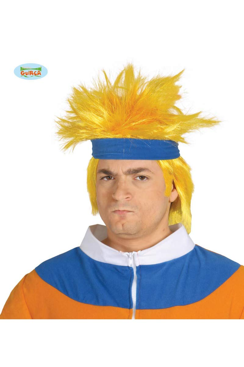 Peluca de Ninja Narute manga amarilla con cinta: Amazon.es ...