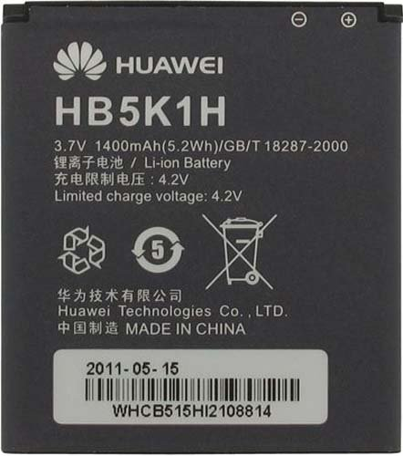 Huawei HB5K1H Battery for Ascend II M865/AT&T Fusion 2/T-Mobile Prism – Original OEM – Retail Packaging – Black
