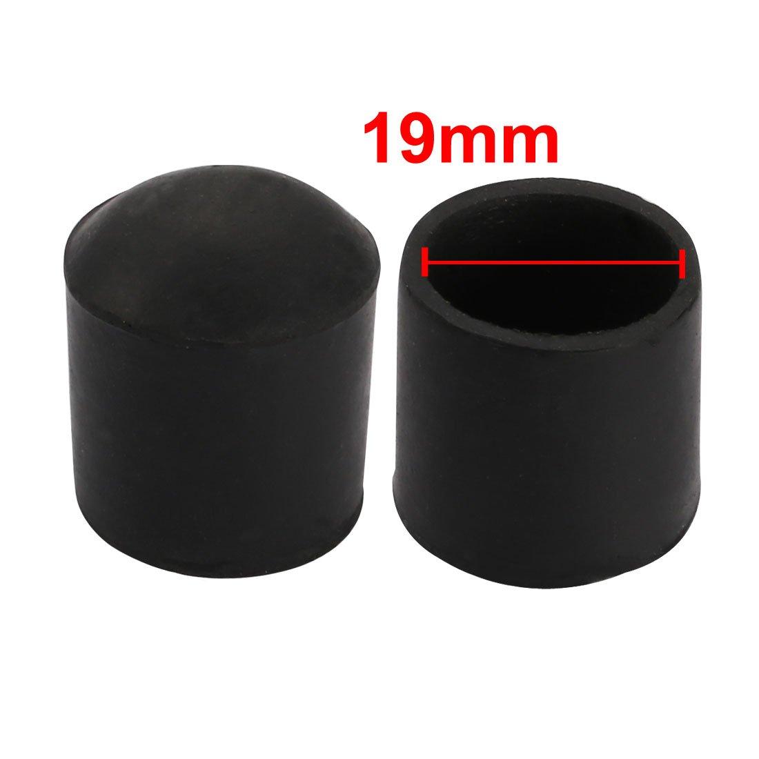 sourcing map 4pz arredamento Poltrona scrivania Rotondo gamba gomma tappo punta 19mm diametro interno nero