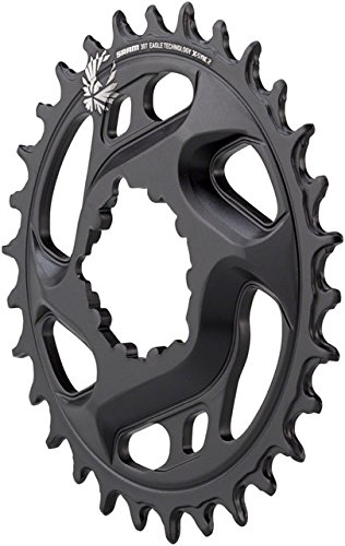 SRAM X-Sync 2 Eagle Cold Forged Direct Mount Chainring Black, 30T/6mm Offset