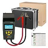 Quick Car Battery Tester 12V / 24V 100-1700 CCA IEC EN DIN JIS Digital Battery Analyzer Automotive Battery Load Tester with Suitcase Printer for Car Boat Motorcycle Light Truck