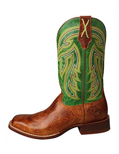Vridna X Mens Ranchägare Boot, Färg Konjak / Smaragdgrönt (mral013) Brun