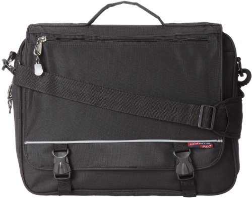 -inch Expandable Soft Messenger Briefcase, Black, One Size ()