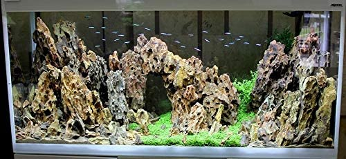 Tm Aquatix Aquarium Decoration Dragon Rock Fish Tank Stone Natural Ornament 3kg Set Amazon Co Uk Pet Supplies