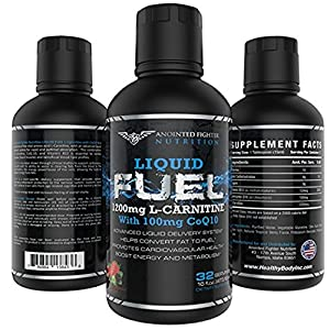 AFN L Carnitine 1200 MG B12 12 MCG Liquid Fuel will help Burn Fat and Boost energy 100 MG of Coq10 for Heart Health and (32 Servings) No... Proprietary blends