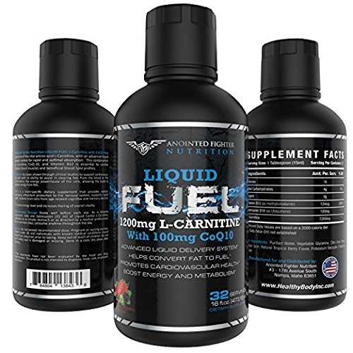 AFN L Carnitine-1200 MG B12-12 MCG Liquid Fuel will help Burn Fat and Boost energy 100 MG of Coq10 for Heart Health and (32 Servings) No... Proprietary blends by Anointed Fighter