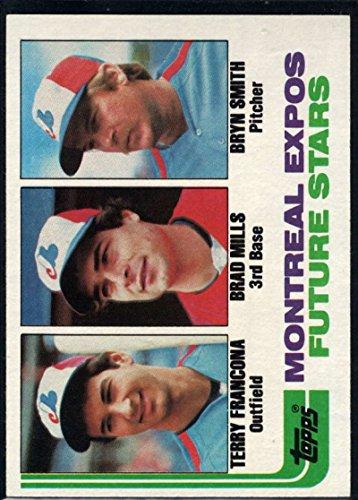 Baseball MLB 1982 Topps #118 Terry Francona/Brad Mills/Bryn Smith Expos Rookies RC Expos ()