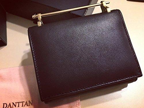 DANTTAN Women Crossbody Wallet Trifold Soft Calfskin Genuine Leather Handbag Black Photo #3