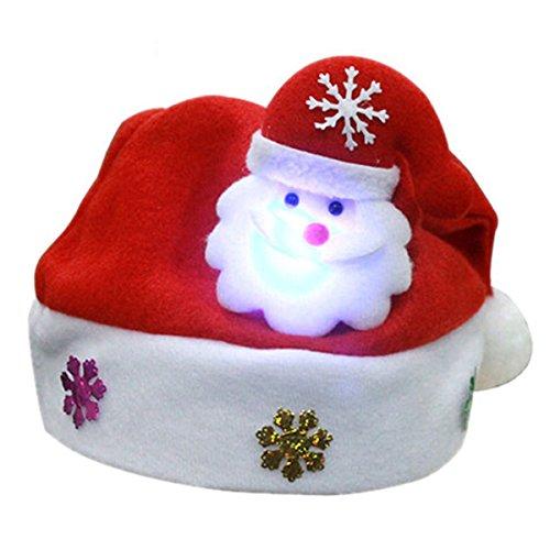 outlet ottima vestibilità rilasciare informazioni su SODIAL(R) Babbo Natale con il LED cappello cappello cappello dei bambini  cappello di Natale 30 * 25cm