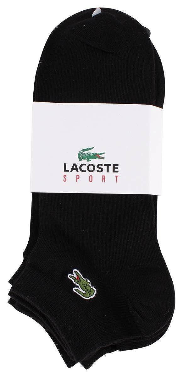 Negro Corto Sport Calcetines 3 Pack de Lacoste: Amazon.es: Ropa y accesorios