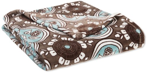 Northpoint Seville Printed Velvet Plush Throw, Powder Blue Bandana - Velvet Silky touch blanket with rich vibrant beautiful prints Generous 50x70inch throw size Machine washable easy to care for - blankets-throws, bedroom-sheets-comforters, bedroom - 516gWf3157L -