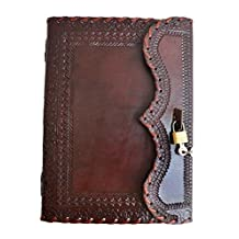 """10"""" large Genuine Leather Journal Vintage Antique Style Organizer Blank Notebook Secret Diary Daily Journal Personal Diary"""