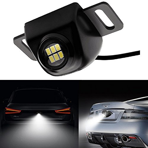 (LUYED Super Bright 3020 6-EX LED backup Camera illumination system.NEWEST PATENT Auxiliary Reverse Light Enhances Backup camera performance at night.Solid state black SMD (Surface Mount Device))