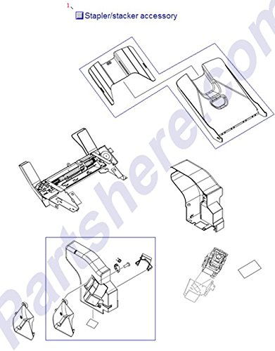 HP Q5691-60501 500 sheet stapler/stacker assembly for LaserJet 4345 and 4370MFP