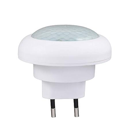 LEDMOMO Enchufe la luz del sensor de movimiento, 8LED Luz nocturna automática Sensor PIR Lámpara