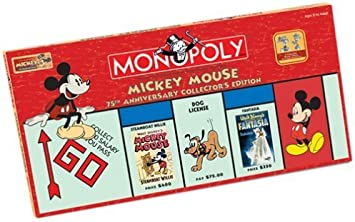 Mickey Mouse Monopoly - 75th Anniversary Collectors Edition by MONOPOLY: Amazon.es: Juguetes y juegos