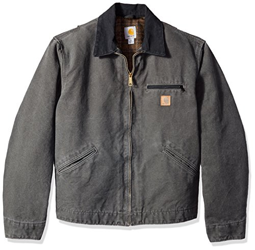Carhartt Men's Big & Tall Blanket Lined Sandstone Detroit Jacket J97,Gravel,Large Tall