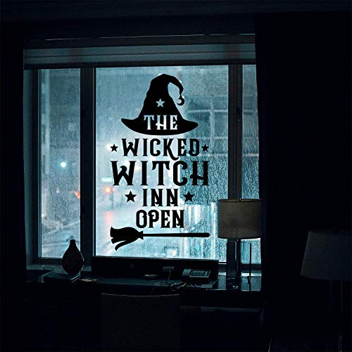 Halloween Mirror Illusion (Vinyl Wall Art Decal - The Wicked Witch Inn Open - 17