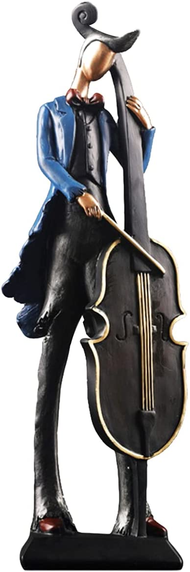 LYART Retro Musician Statue Resin Figurine Sculpture Giftbox Decor Gift Souvenir for Living Room Bedroom Crafts Home Gift Statue for Music Lover (Cellist)