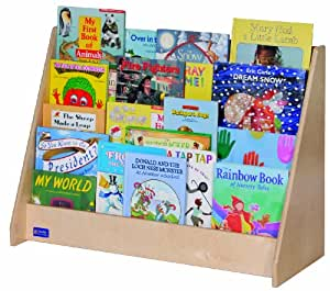 childrens book rack steffy wood products 4 shelf book display 2169