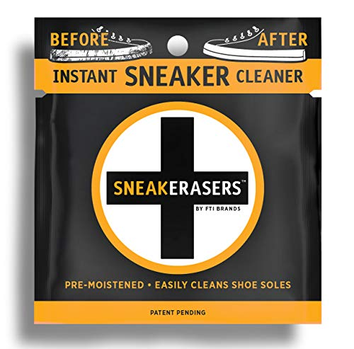 SneakERASERS Instant Sole and Sneaker Cleaner Pre-Moistened Sponge -