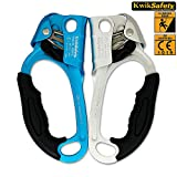 KwikSafety Climbing Hand Ascender & Descender   Chest Right & Left Hand Caving Gear   Lightweight Aluminum Alloy Gear   Indoor Outdoor Recreation Rock Tree Climbing Aerial Yoga Rappel Escape Rescue