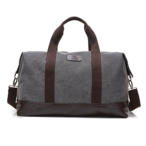 Classic Canvas Duffel Bag Weekender Overnight Travel Tote Oversized Luggage (Weekender Set)
