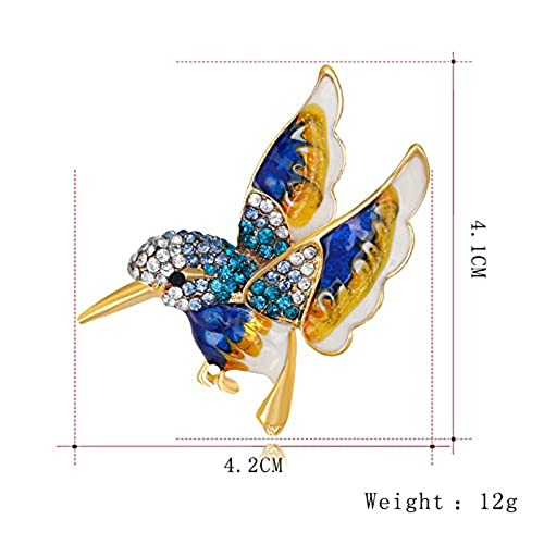 Marvelous Lovely Flying Hummingbird Brooch Lady Multicolor Sparkling Crystals Animal  Breastpin Pin Christmas Gift