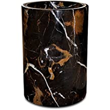 Marble Utensil Holder Hand Made Hand Crafted By Primiur (Black)