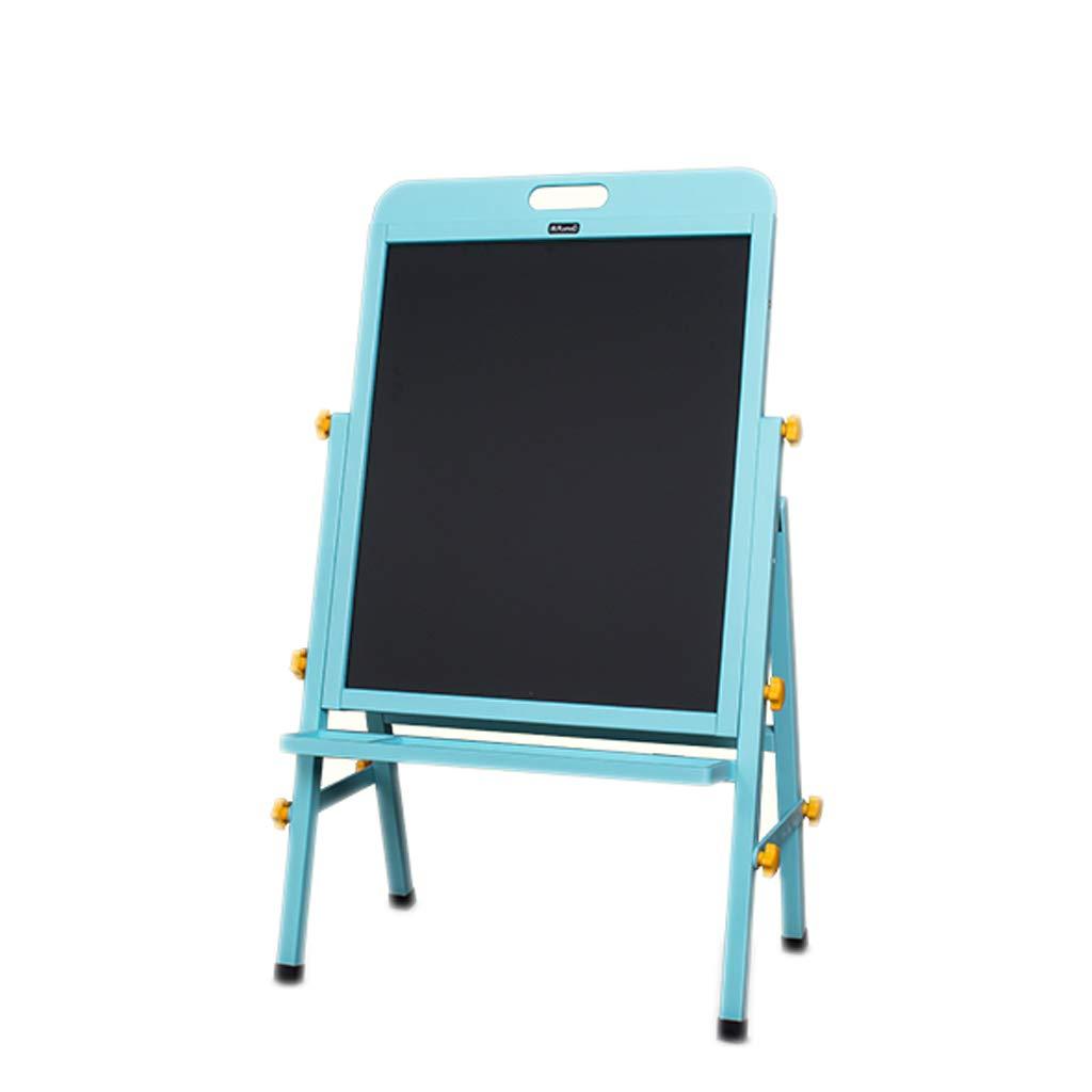 イーゼルキッド無垢材製図板イーゼル両面磁気小型黒板ブラケットタイプホームリフトイーゼル (色 : 青)  青 B07MYXCWF7