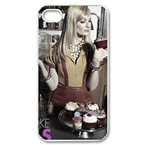 2 Broke Girls iPhone 4,4S White Phone Case Christmas Gifts&Gift Attractive Phone Case KHUAA523531
