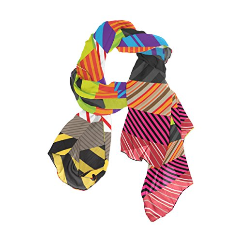 striscia multicolore Womens Alaza Leggera Fashion colorata Scarf AHZxnBXwq