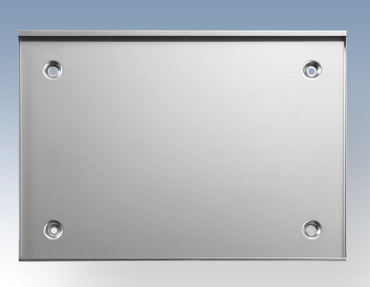 Kassettenschild DIN A6 quer 148x105 mm ESG Glas Edelstahl B/üroschild Hinweisschild T/ürschild Wechselrahmen