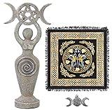 Altar Cloth Goddess Statue Spiral Wiccan Triple...