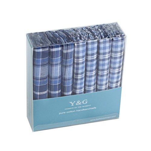 Men's Fashion Excellent Design 7 Pure Cotton Handkerchiefs Set Wedding Goods