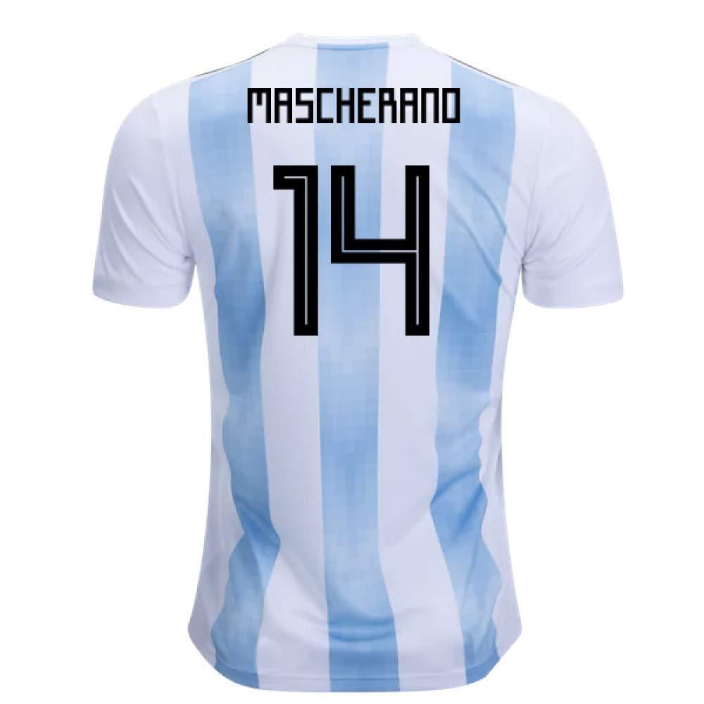 2018-19 Argentina Home Football Soccer T-Shirt Trikot (Javier Mascherano 14) - Kids