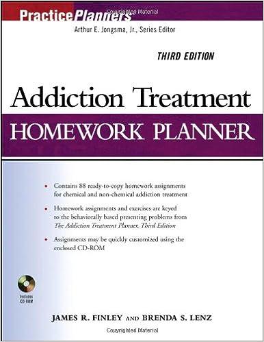 Amazon.com: Addiction Treatment Homework Planner (PracticePlanners ...