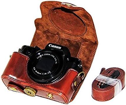 First2savvv XJPT-G5X-10 Funda Cámara cuero de la PU cámara digital ...