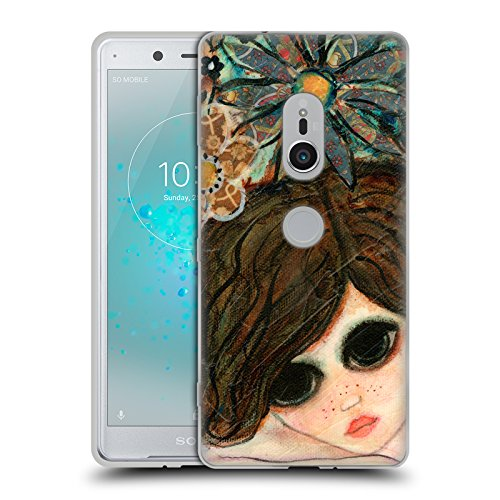 Garden Daydreams (Official Wyanne Daydream Garden Big Eyed Girl 2 Soft Gel Case for Sony Xperia XZ2)