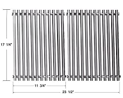 Bbq Funland 7527 9869 7526 7525 Stainless Steel Replacement Cooking Grate For Weber 7527 Lowes Model Grills Set Of 2