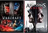 Video Game Movie Set Assassin's Creed & Warcraft DVD Double Feature Bundle