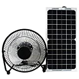 12 volt solar panel and fan - GOODSOZ 10W 12V Solar Panel Powered Fan Ventilator for RV Trailer Chicken House Dog House Roof Vent Multi-functional Charger